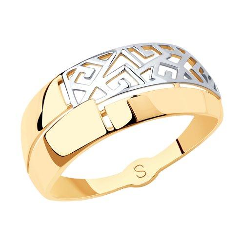 Кольцо из золота (017802) - фото