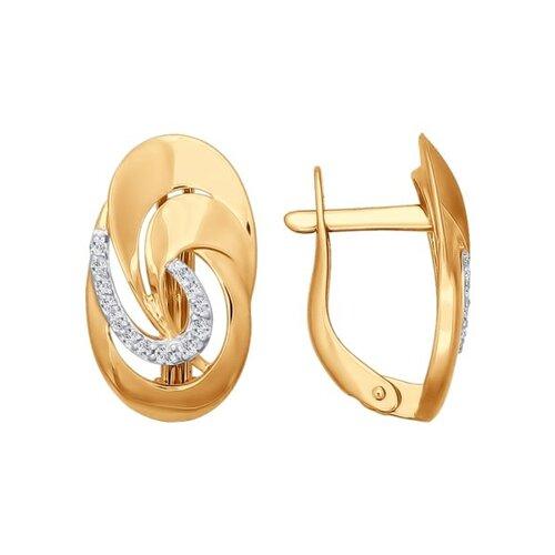Серьги из золота с фианитами (026799) - фото