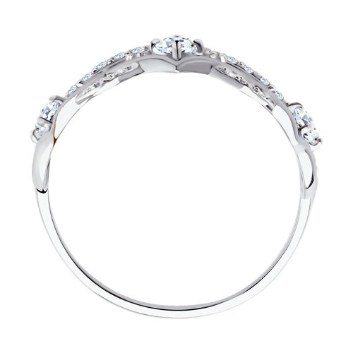 Кольцо из белого золота с фианитами 017416-3 SOKOLOV фото 2