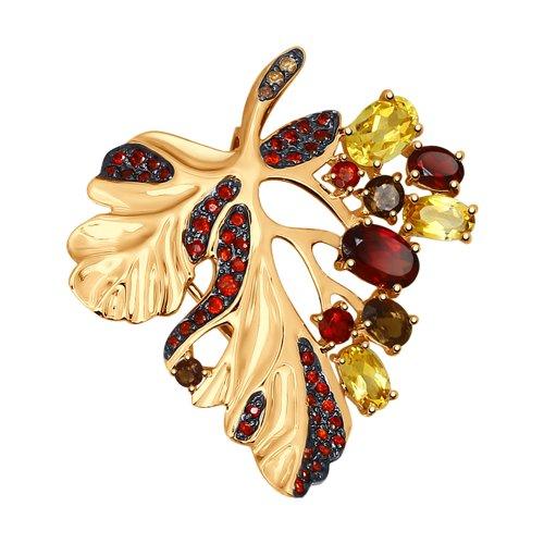 Подвеска из золота с миксом камней (37731525) - фото
