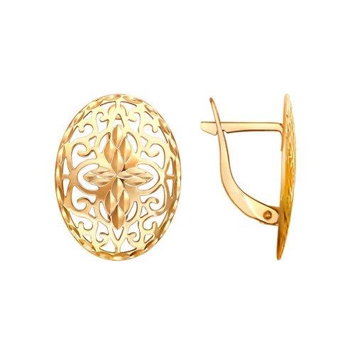 Ажурные серьги с алмазной гранью