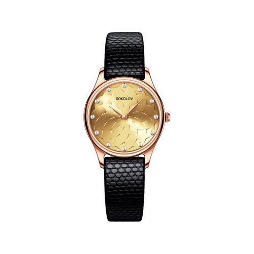 Женские золотые часы (238.01.00.000.09.01.2) - фото №2
