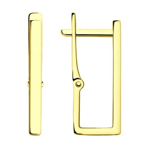 Серьги из желтого золота 028677-2 sokolov фото