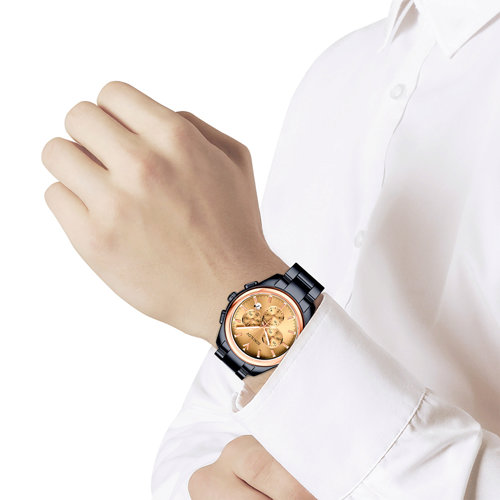 Мужские часы из золота и стали Black Edition