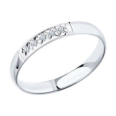 Купить Кольцо из белого золота с бриллиантами