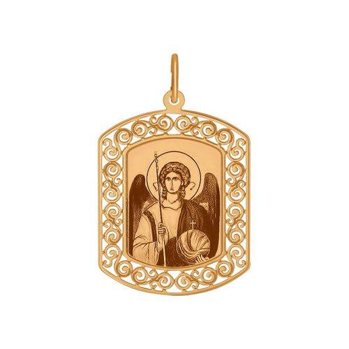 Иконка из золота с ликом Архангела Михаила