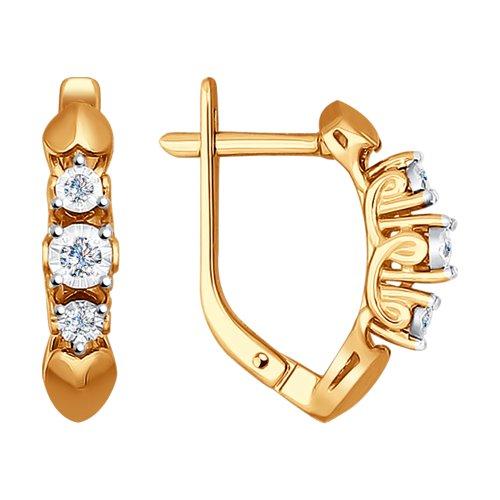 Серьги из золота с бриллиантами (1020853) - фото