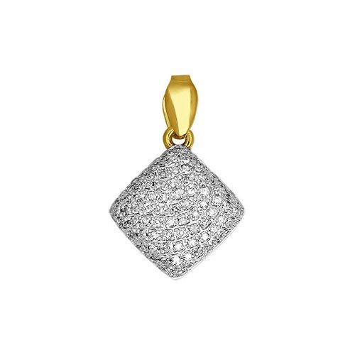 Подвеска SOKOLOV из жёлтого золота с бриллиантами подвеска с топазом и бриллиантами из жёлтого золота