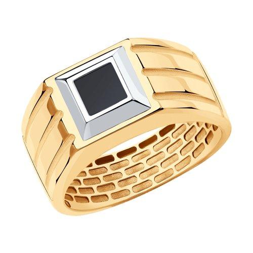 Кольцо из золота с ониксом