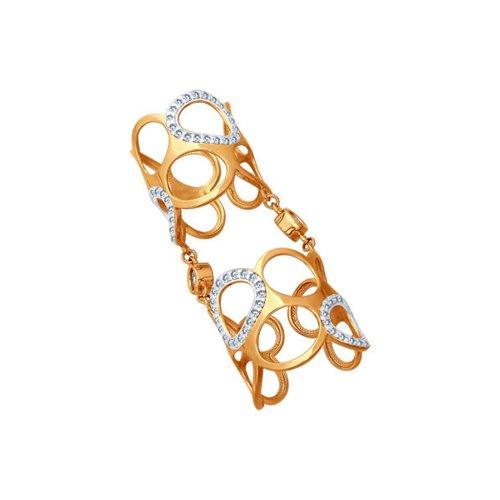 Кольцо на две фаланги SOKOLOV из золочёного серебра