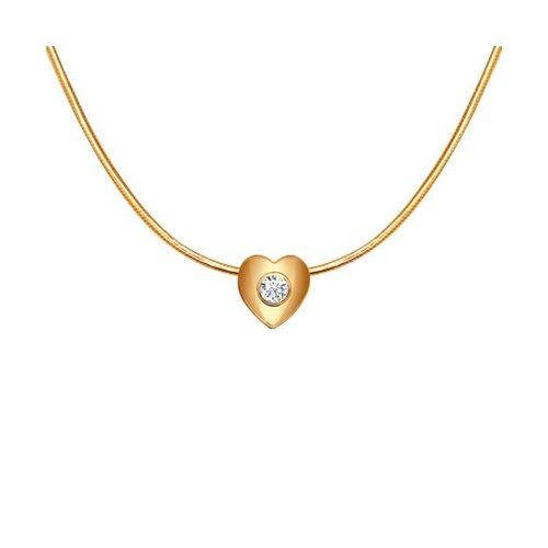 цена на Кулон «Сердце» с бриллиантом SOKOLOV