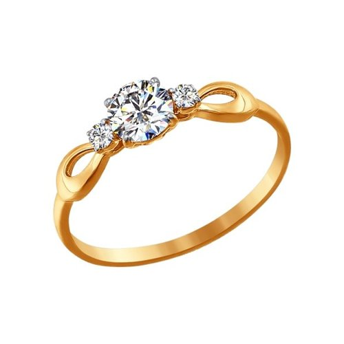 Помолвочное кольцо из золота со Swarovski Zirconia
