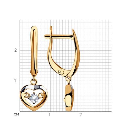 Серьги из золота с фианитами 028276 SOKOLOV фото 2