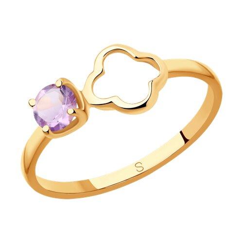 Кольцо из золота с аметистом (715603) - фото