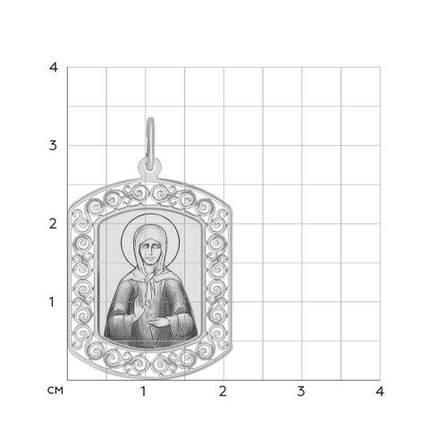 Иконка из серебра с лазерной обработкой (94100210) - фото №2