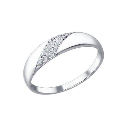 цена на Белое обручальное кольцо с бриллиантами SOKOLOV