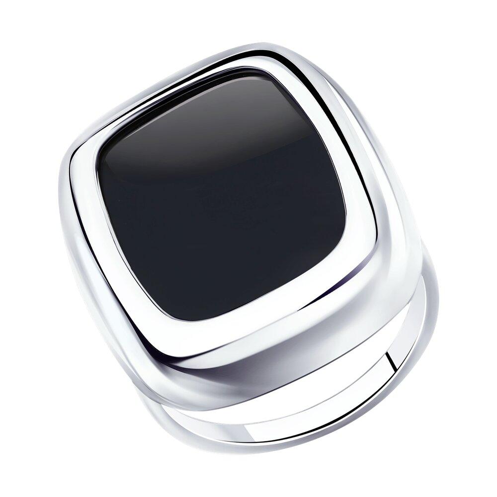 Кольцо SOKOLOV из серебра с родированием с агатом