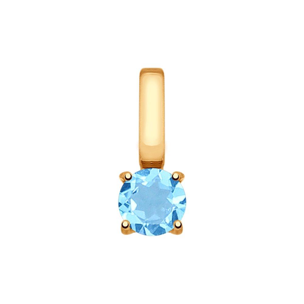 Подвеска SOKOLOV из золота с эмалью с топазом подвеска с 1 эмалью из красного золота