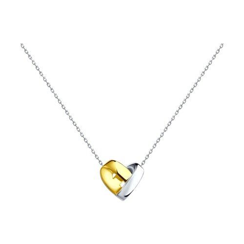 Колье из золочёного серебра (94070113) - фото