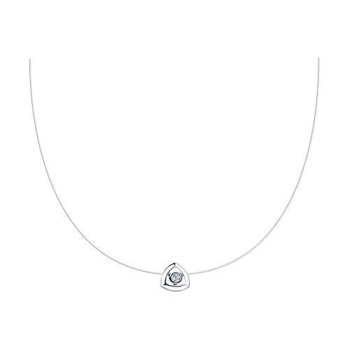 Колье из серебра с фианитом (94070274) - фото