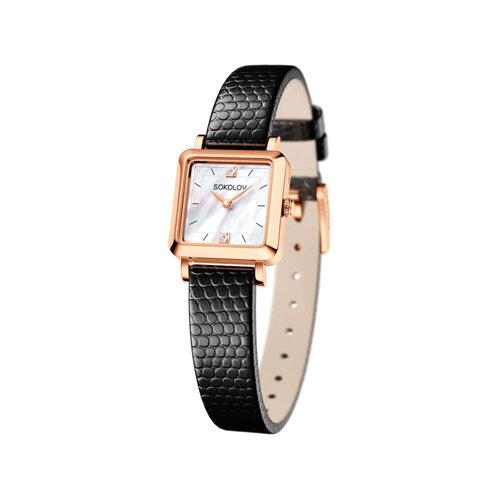 Женские золотые часы (231.01.00.000.05.01.2) - фото