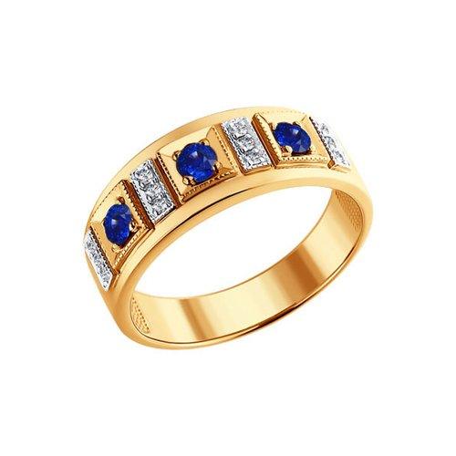 Кольцо SOKOLOV из золота с бриллиантами и сапфирами подвес с сапфирами и бриллиантами из розового золота 52112
