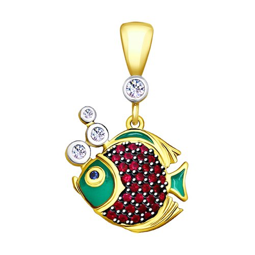 цена на Подвеска SOKOLOV из золочёного серебра «Рыбки»