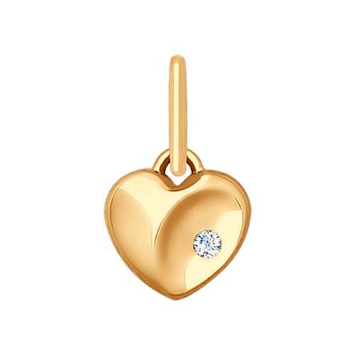 Подвеска «Сердце» из золота (035360) - фото