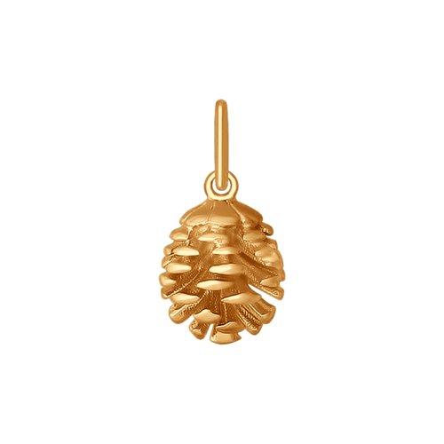 Подвеска из золота «Сосновая шишка»