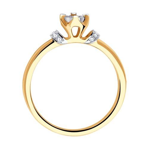 Помолвочное кольцо из золота с бриллиантами (1011074) - фото №2