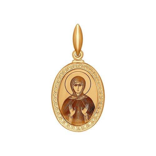 Иконка из золота с лазерной обработкой (100970) - фото
