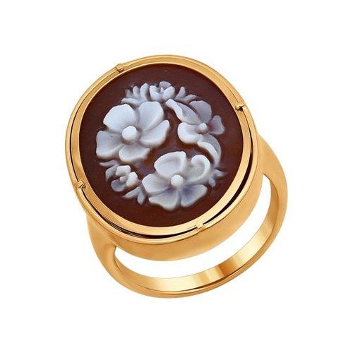 Кольцо из золота с камеей