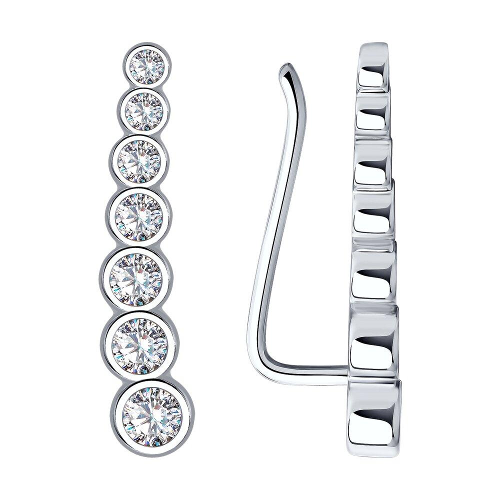 Серьги SOKOLOV из серебра с фианитами