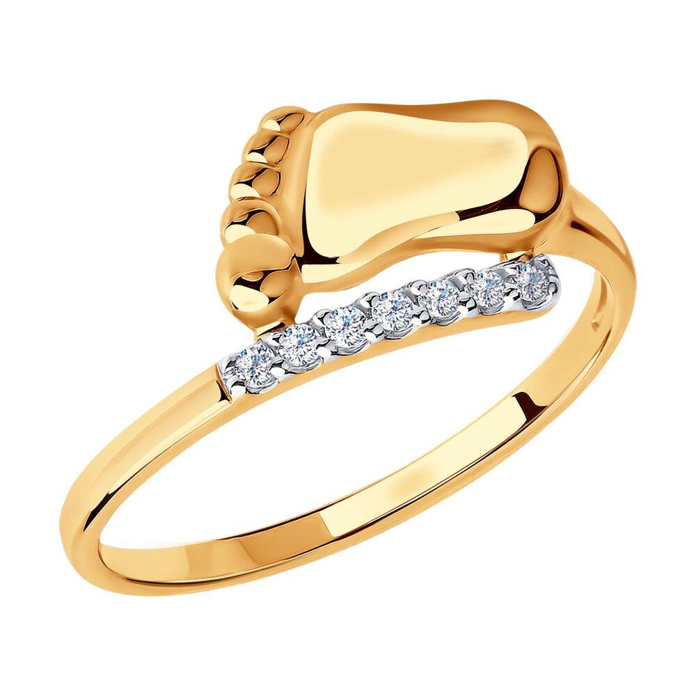 Кольцо «Пяточка» SOKOLOV из золота 585 пробы золотое кольцо ювелирное изделие 01k663088