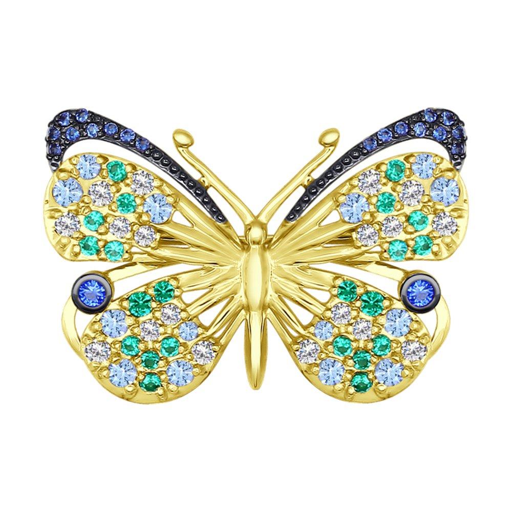 Брошь SOKOLOV из жёлтого золота «Бабочка»