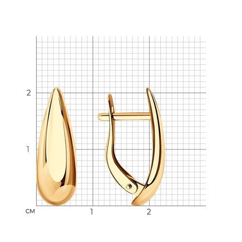Серьги из золота (027121) - фото №2