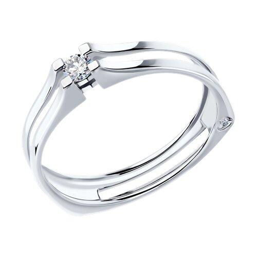 Кольцо из белого золота с бриллиантами (1011728) - фото