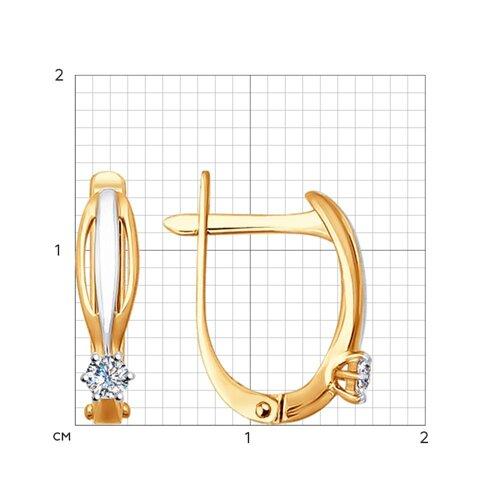 Серьги из золота с бриллиантами (1020893) - фото №2