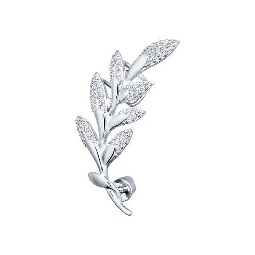 Кафф «Веточка» из серебра