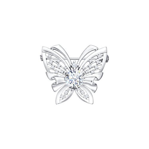 Серебряная брошь в форме бабочки SOKOLOV цена и фото