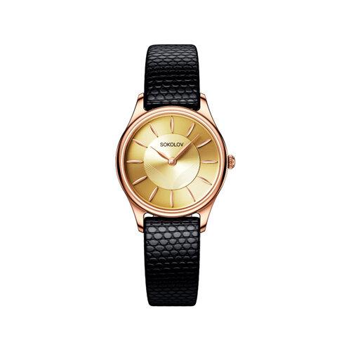 Женские золотые часы (238.01.00.000.05.01.2) - фото №2