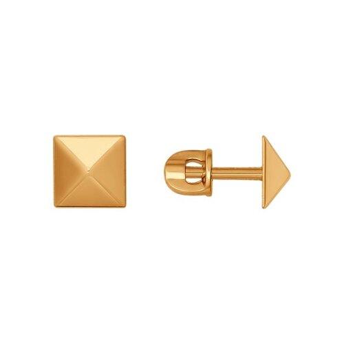 Серьги-пусеты из золота (026984) - фото