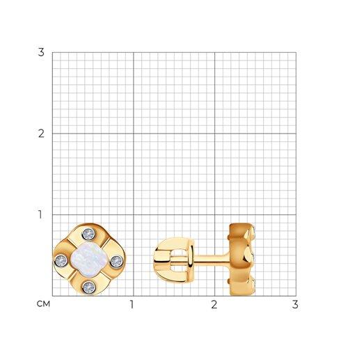 Серьги из золота с бриллиантами и перламутром 1021602 SOKOLOV фото 2