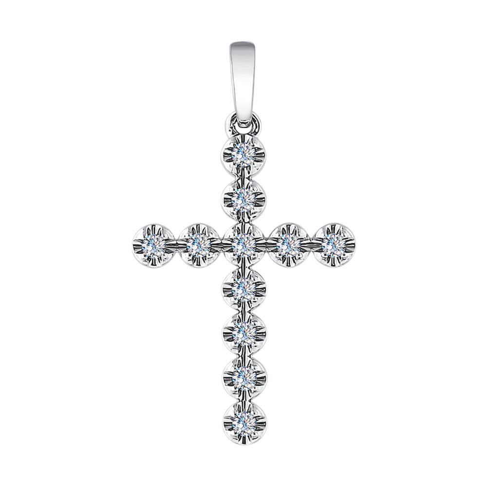 Крест SOKOLOV из белого золота с бриллиантами крест из белого золота с бриллиантами