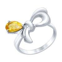 Кольцо из серебра с цитрином