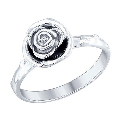 Кольцо из серебра (94012424) - фото