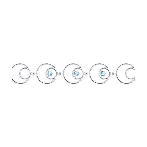 Браслет из серебра с топазами (92050128) - фото