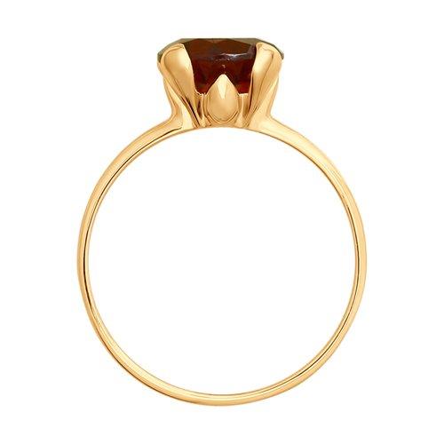 Кольцо из золота с гранатом (714928) - фото №2