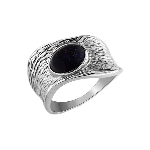 Серебряное кольцо с красным авантюрином SOKOLOV