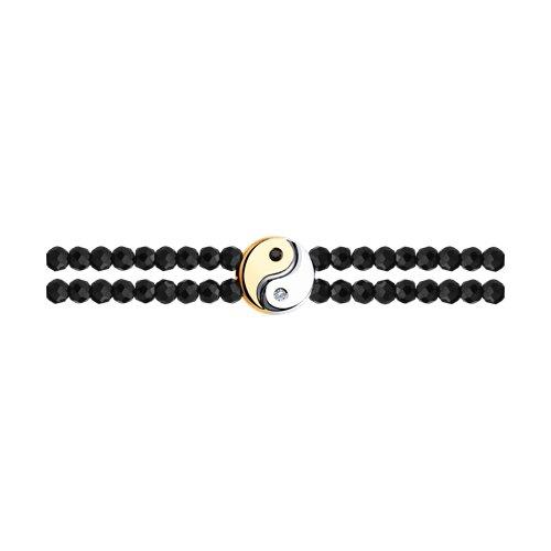 Браслет из золота с бесцветными и чёрными бриллиантами